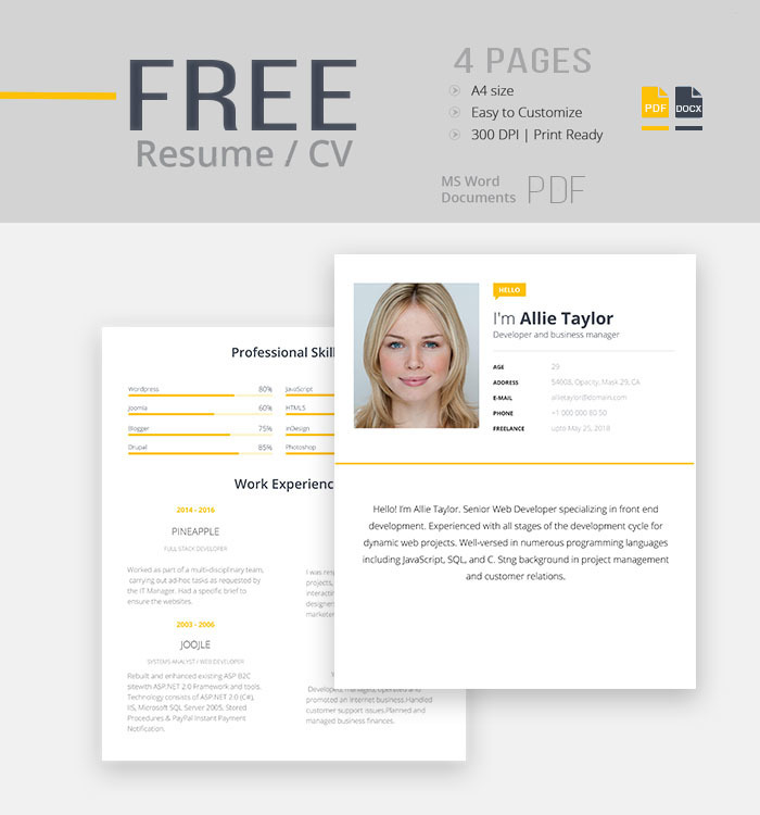 free resume cv template for modern look resume_20cv - Look At Resumes For Free