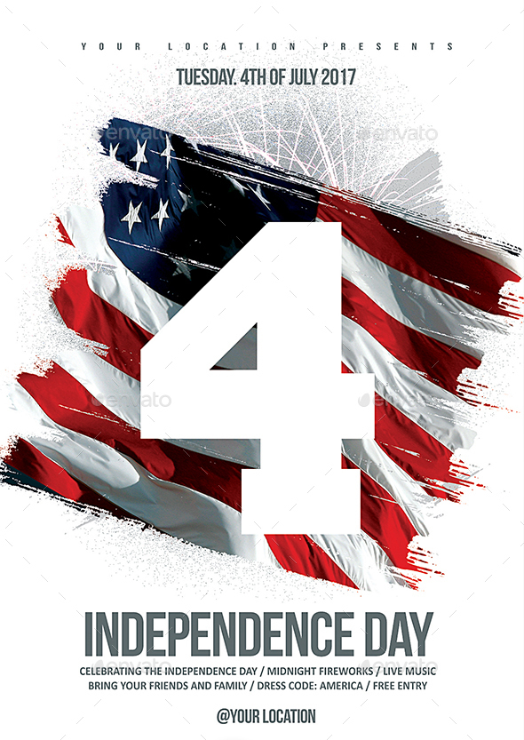 55premium Free 4th Of July Elements And Ready Made Templates For