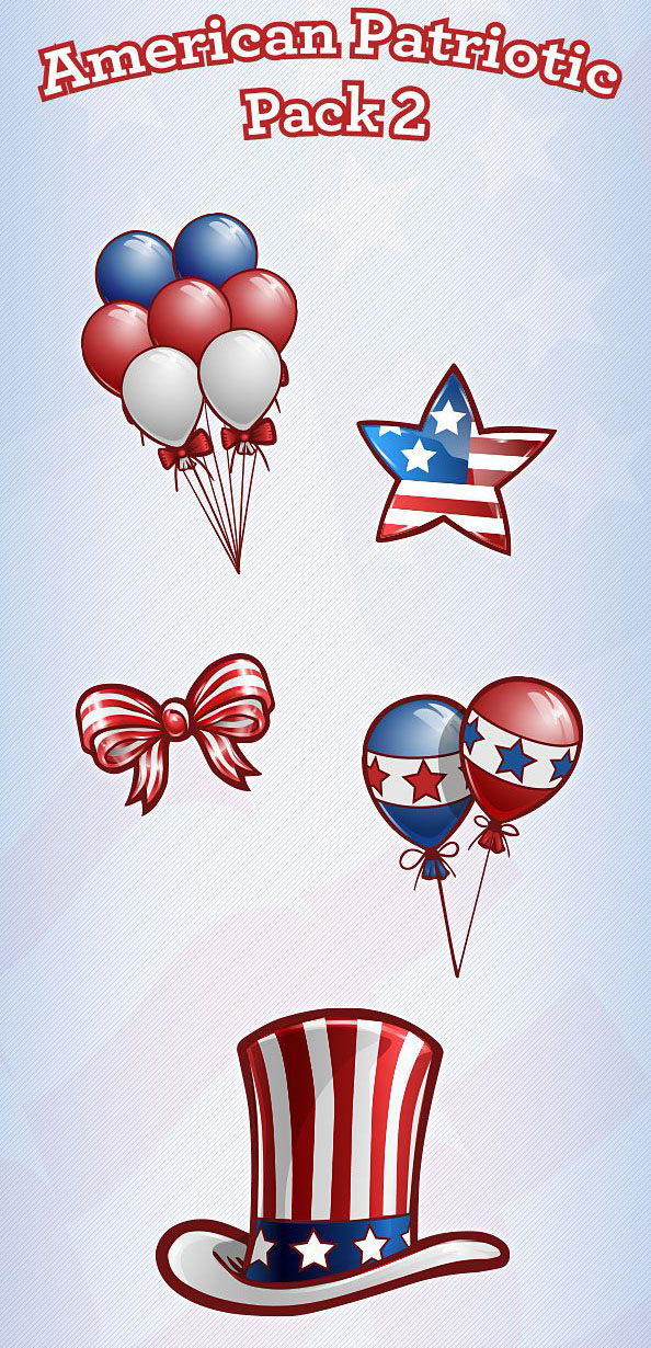 Free_PSD_American_Patriotic_Set_2_Preview