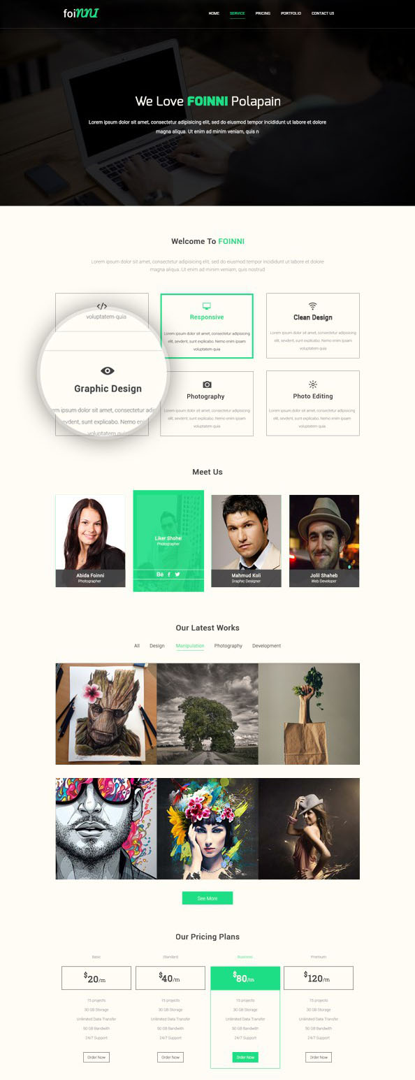 Modern-website-template