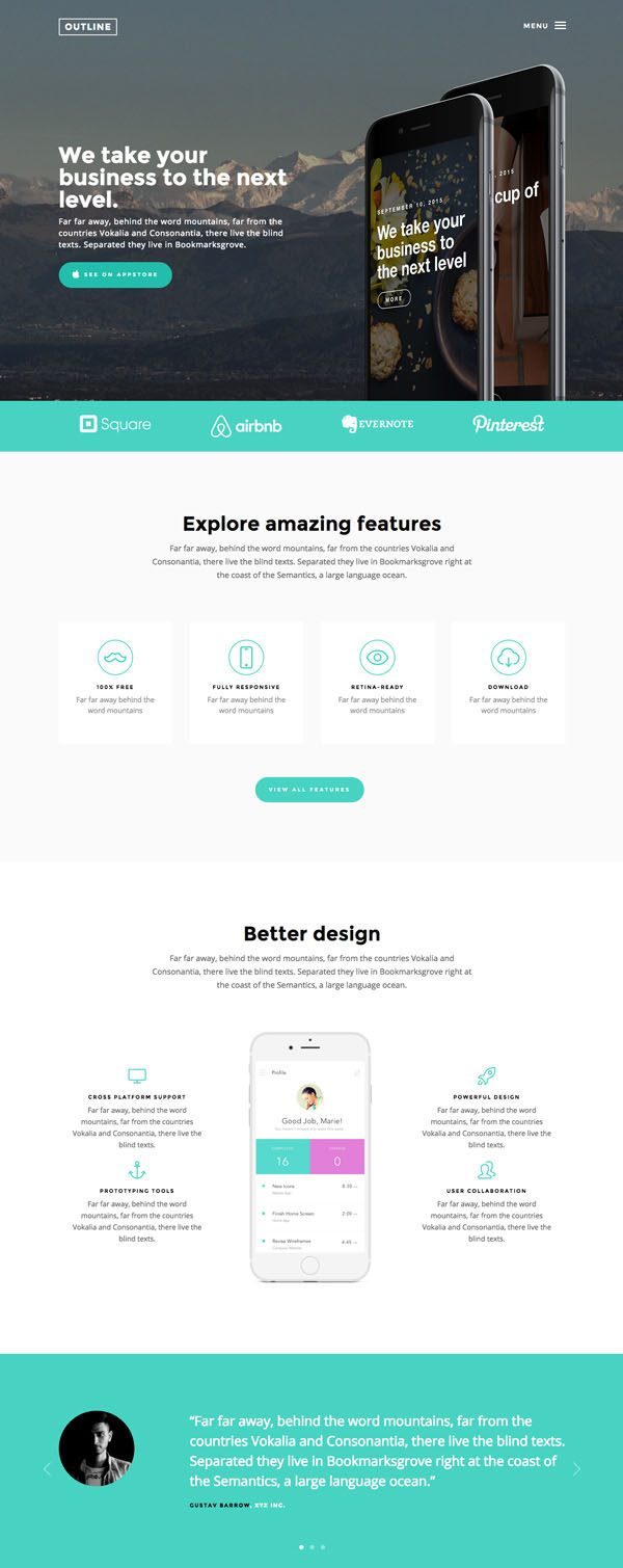 25 Free Wonderful HTML website templates for designers and ...