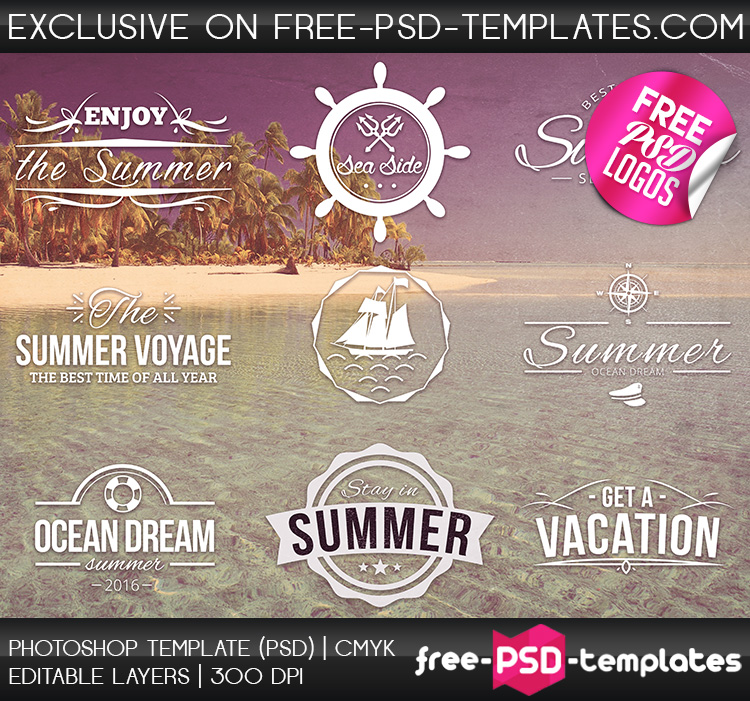 Preview_Free_PSD_Summer_Logos_Set