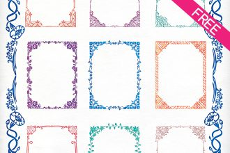 FREE 10 Watercolor Frame IN PSD