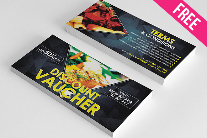 Free psd gift voucher bundle free psd templates negle Images