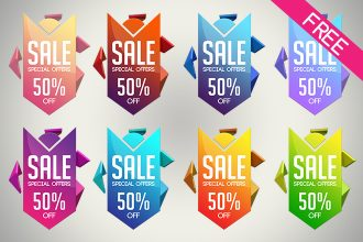 FREE Sale Arrow Banner IN PSD