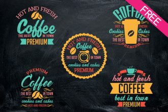 FREE Set Of Coffee Signs IN PSD