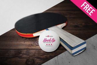 Free Ping Pong Ball Mock-up in PSD