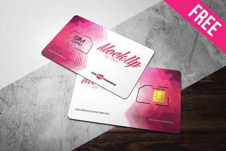 Free Sim Card Mock-up in PSD