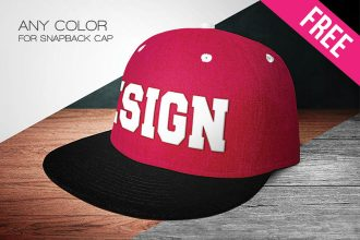 Free Snapback Cap Mock-up in PSD