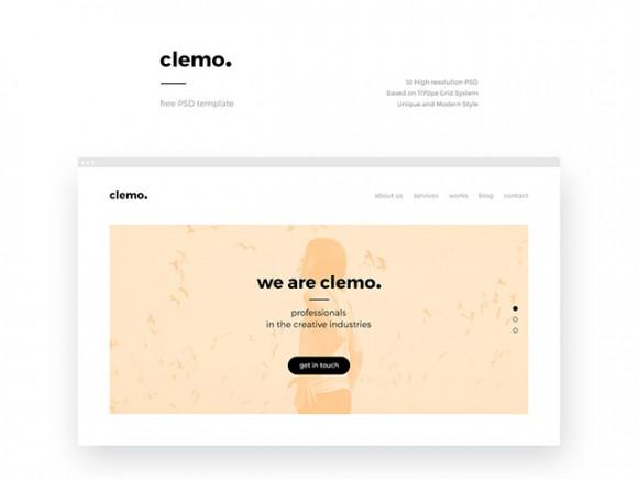 cleamo-free-psd-template-580x435
