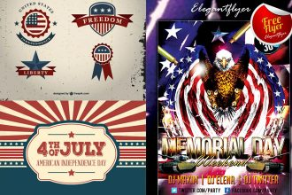 25+ Free 4th of July elements and ready-made templates for great creation!