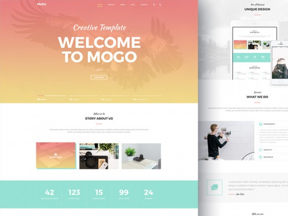mogo free website template 580x435