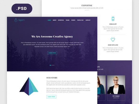 tajam-psd-website-template-580x435