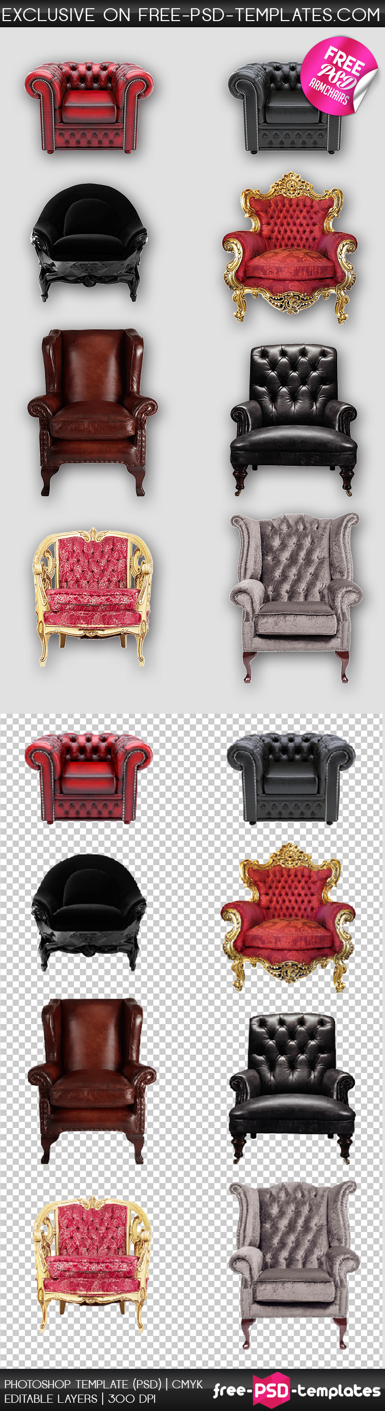 PreviewFree_Set_of_Luxury_Armchairs_in_PSD