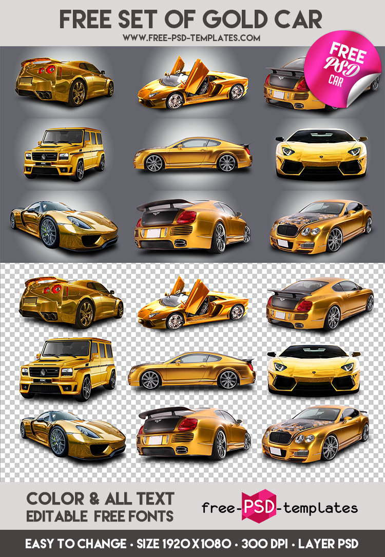 Preview_Set_Of_Gold_Car
