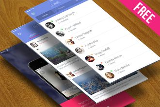 Free PSD Mobile Apps Mock Up