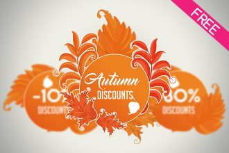 FREE Autumn Discount Promotion IN PSD
