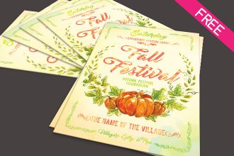 FREE Fall Festival flyer IN PSD