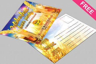 Octoberfest Post Card – Free PSD Post Card Template