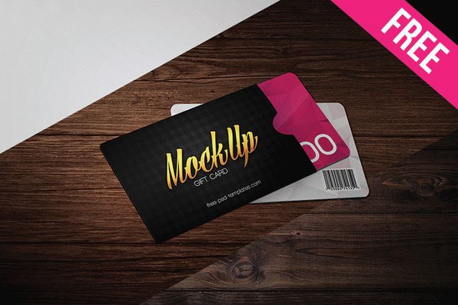 free gift card mock up in psd free psd templates