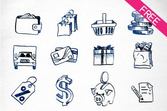 FREE 16 Painted Icons Trade IN PSD