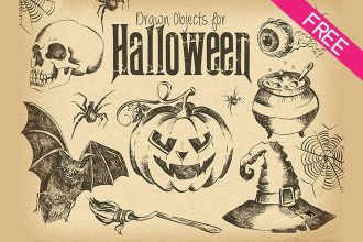 FREE Drawn Objects for Halloween IN PSD