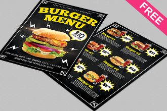 Burger Menu – Free PSD Menu Template