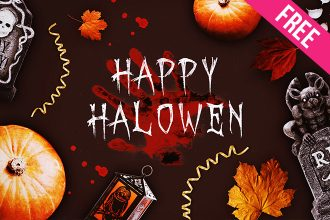 Free Transparated Halloween Elements in PSD