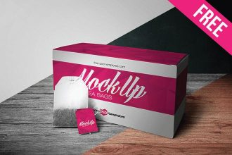 Free Tea Bags Mock-up in PSD