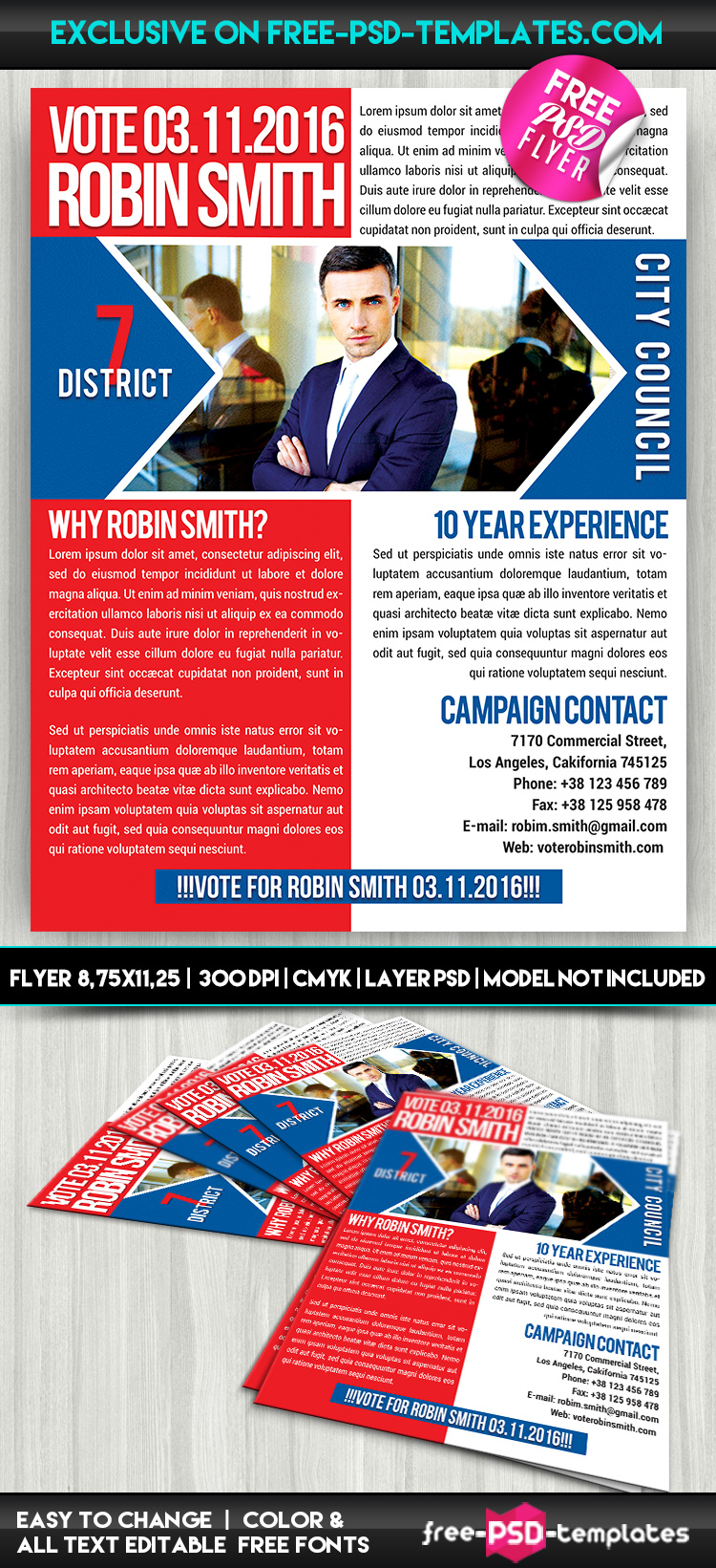Political Promotion Free PSD Flyer Template – Political Flyer Template