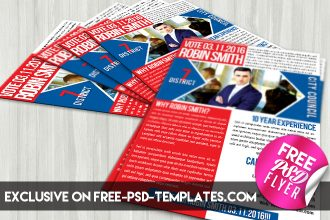 Political Promotion – Free PSD Flyer Template