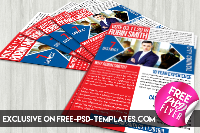 political promotion free psd flyer template free psd templates