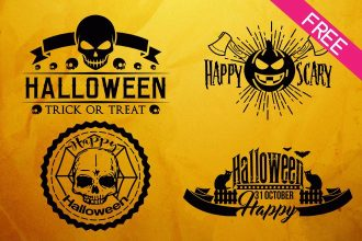 FREE Happy Halloween Label IN PSD