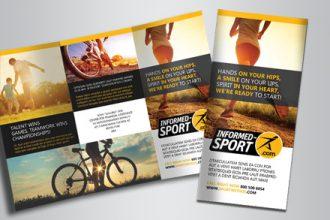 Sport – Free Indd Tri-Fold Brochure Template