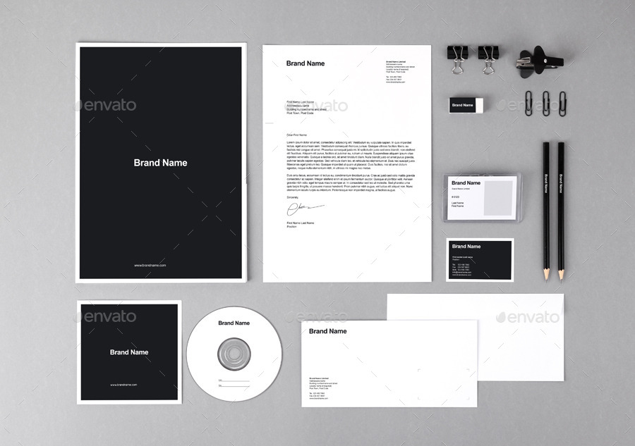40 free branding identity mockups to be modern and creative, Powerpoint templates