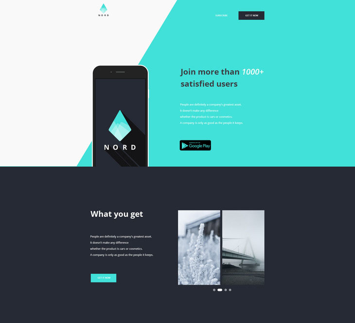 Free PSD Landing Pages Templates For Creative And Important Ideas - Simple landing page template