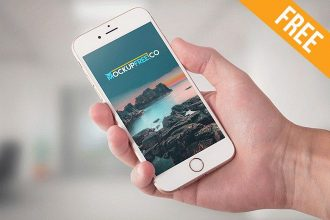 iPhone 6 Hand Hold – Free PSD Mockup