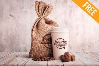 Coffee Stationary – Free PSD Mockup