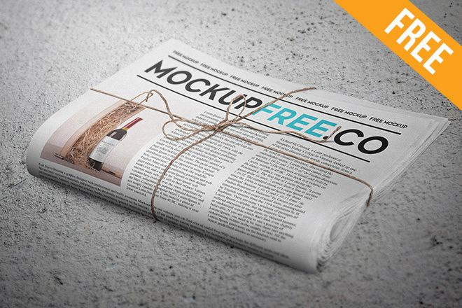 Newspaper Newsletter Free Psd Mockup Free Psd Templates