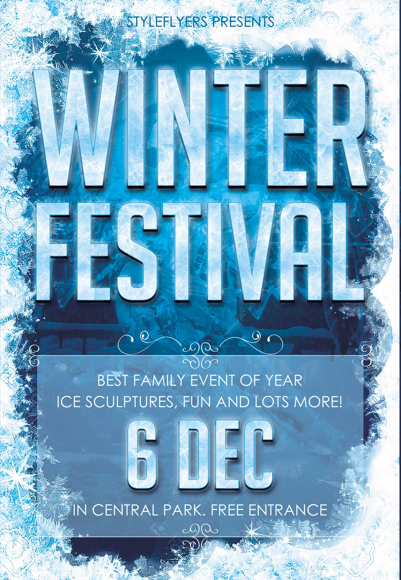 flyers as a promotion tool psd templates winter fest