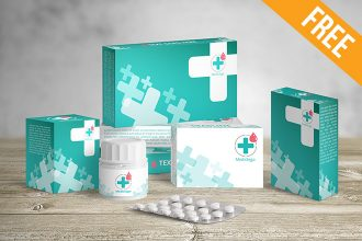 Medical Packaging – Free PSD Mockup