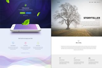 25 Free PSD Landing Pages Templates for creative and important ideas!