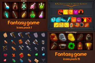 9 FREE PSD RPG game icons pack