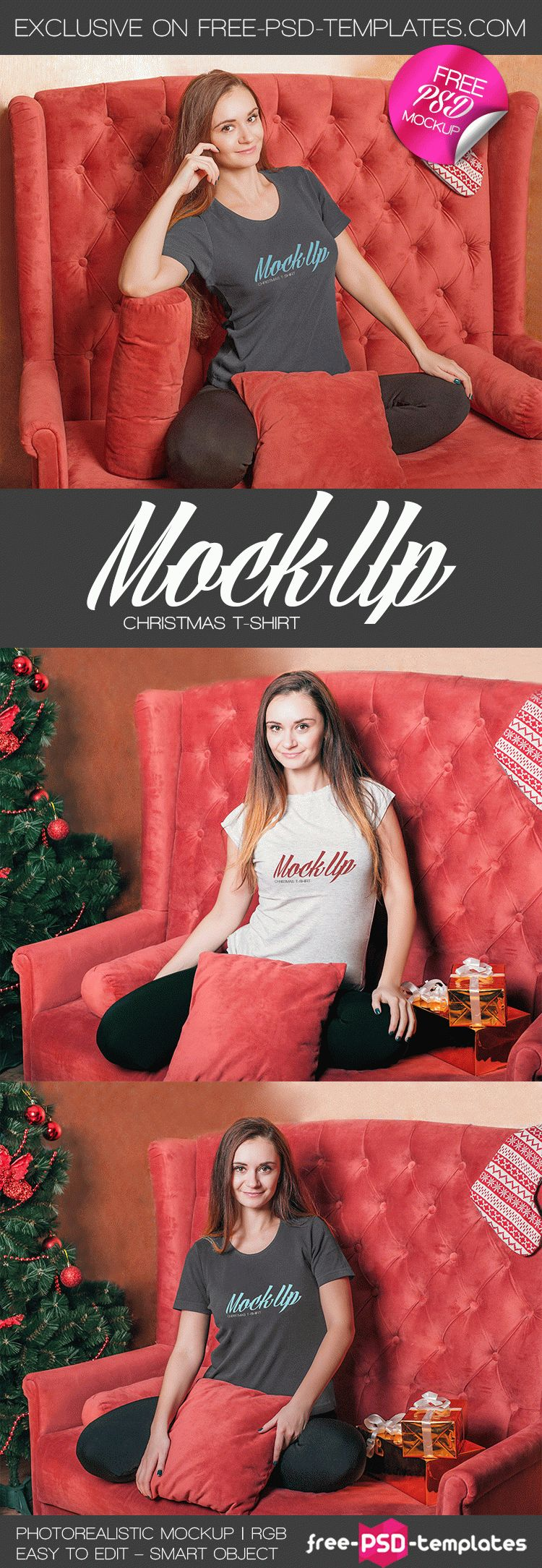 Free Christmas T Shirt Mock Up In Psd Free Psd Templates