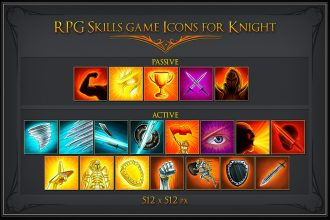 free-rpg-knight-skill-icons