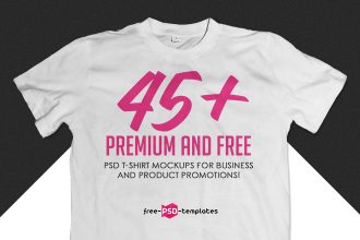 45+Premium & Free PSD T-shirt mockups for business and product promotions!