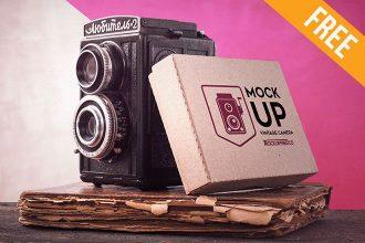 Vintage Camera – Free PSD Mockup