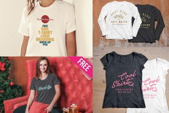 30+ Free PSD T-shirt mockups for business and product promotions!