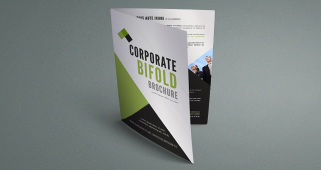 corporate bi fold brochure template free