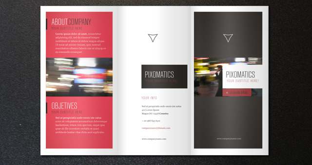 Free PSD TriFold BiFold Brochures Templates For Promoting - Free download tri fold brochure template